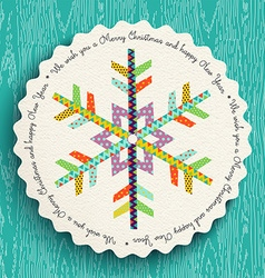 Merry Christmas and new year fun snowflake design vector image