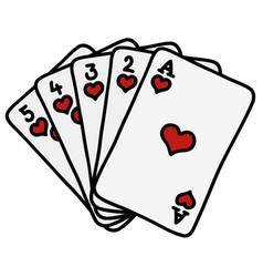 Poker royal flush vector