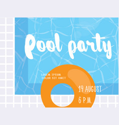 pool party poster design template vector image vector image
