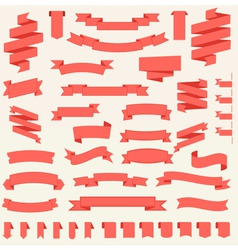 big set of ribbons templates vector image vector image