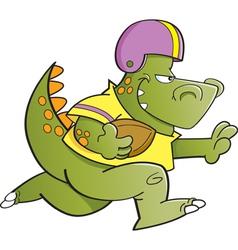 Cartoon Football Dinosaur vector image