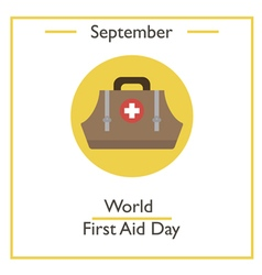 World First Aid Day vector image