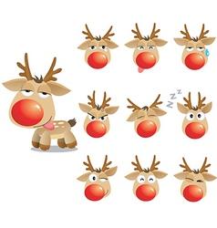 christmas xmas elk vector image