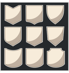 Shields - set vector image vector image