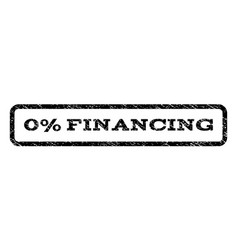 0 percent financing watermark stamp vector