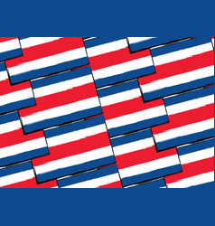 abstract costa rica flag or banner vector image