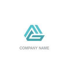 abstract geometry triangle business logo vector image