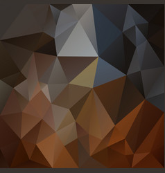 Abstract polygonal square background brown gray vector