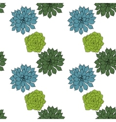 Abstract seamless pattern with succelents vector