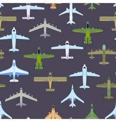 Airplane top view pattern vector image