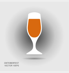 beer mug or beer glass flat icon vector image