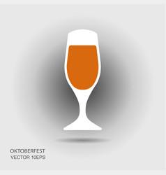 beer mug or glass flat icon vector image