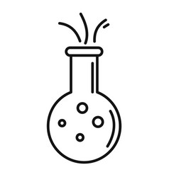 Biology flask icon outline style vector