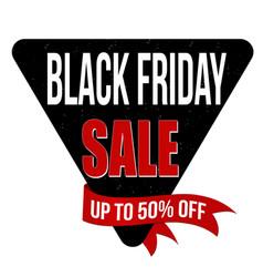 black friday sale label or sticker vector image