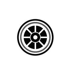 black vintage sailor badge white background logo vector image