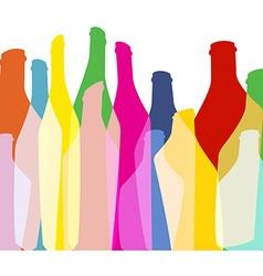 Bottles Background green color vector