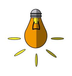 bulb light electric creativity idea innovation vector image