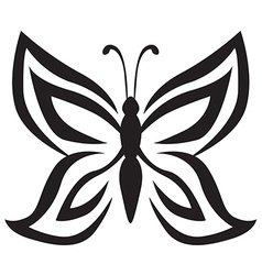 butterfly black vector image
