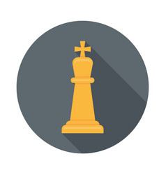 chess king flat icon vector image