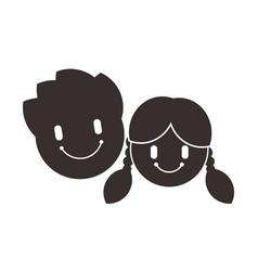 Child icon children symbol little boy and girl vector