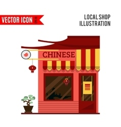 Chinese detailed flat design restaurant icon vector