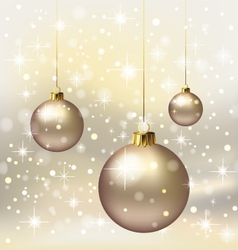 Christmas - gold background vector image