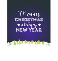 Christmas landscape background with falling snow vector
