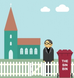church sin bin vector image