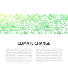 Climate change line template vector