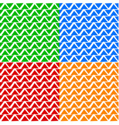 colorful repeatable pattern set with wavy zigzag vector image