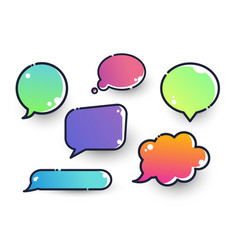 colorful set different speech bubbles vector image