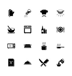 cooking - flat icons vector image