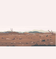 Deadly place nature landscape background vector