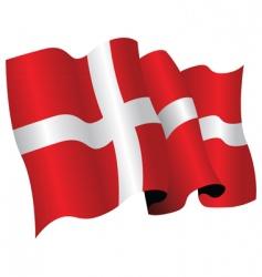 Denmark flag vector