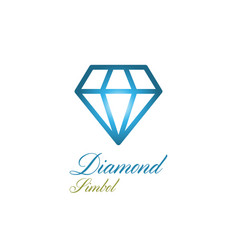 diamond logo vector image
