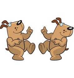 dog dancing vector image