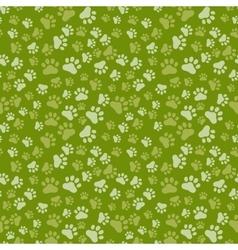 Dog Paw Print Seamless anilams pattern vector image