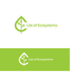 Ecosystem logo leaf icon vector