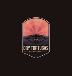 emblem patch logo dry tortuga national park vector image