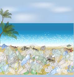Environmental disaster of plastic debris in the vector