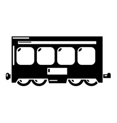 fast train icon simple style vector image