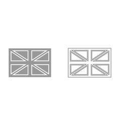 flag united kingdom it is black icon vector image