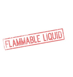 Flammable liquid red rubber stamp on white vector image