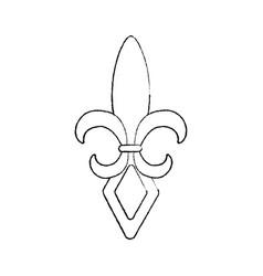 Fleur de lis mardi gras festival carnival symbol vector