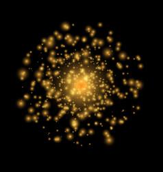 Golden lights on a black background vector