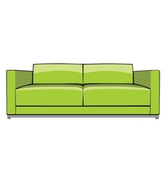 Green sofa vector