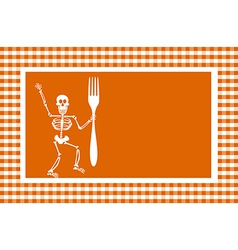 Halloween Skeleton Background vector