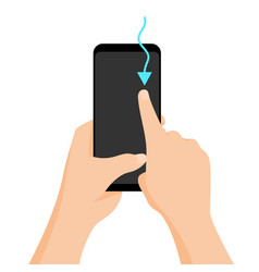 Hand holding smartphone with quick tutorial on the vector