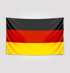 hanging flag of germany federal republic of vector image