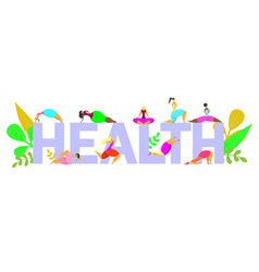 healthy life poster banner design template vector image